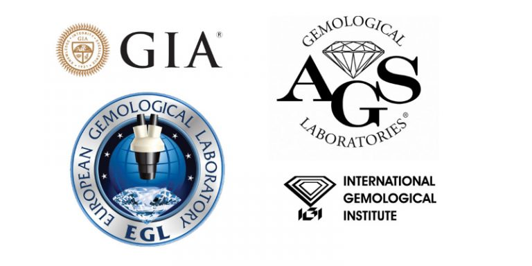diamonds graded by: GIA, EGL , AGS and IGI
